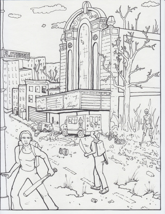 Zombie Apocalypse Coloring Pages