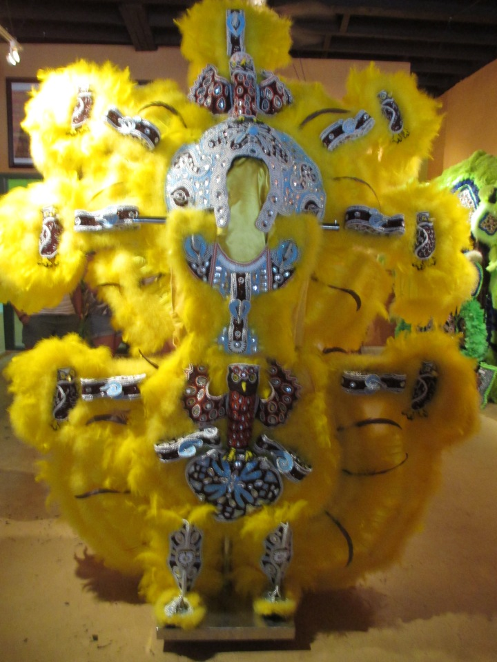 Mardi Gras Indian suit at the Golden Feather